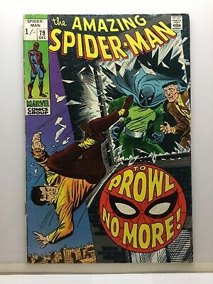 MARVEL Comics The Amazing Spider-man #79 To Prowl No More! 1969