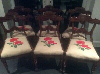 Fantastic set of 6 regency Irish mah dining chairs best available