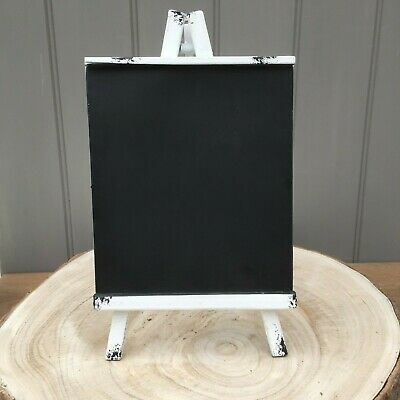 White Shabby Distressed Metal Table Top Chalk Board,Blackboard Wedding,Home,Cafe