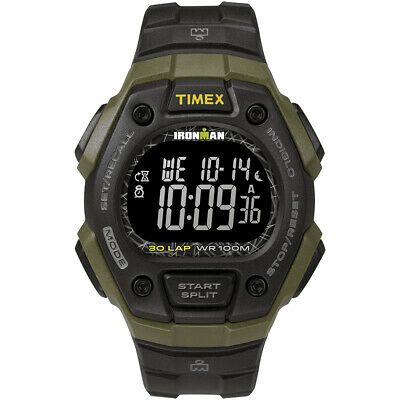 Timex IRONMAN Classic 30 41mm Full-Size Resin Strap Watch - Green/Black