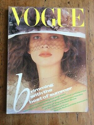 British vintage vogue magazine May 1985 1980s fashion retro style UK