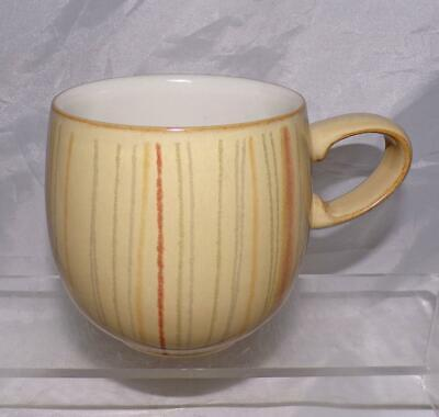 Denby Pottery Caramel Stripes Pattern Medium Curve Mug ½ Pint Size in Stoneware