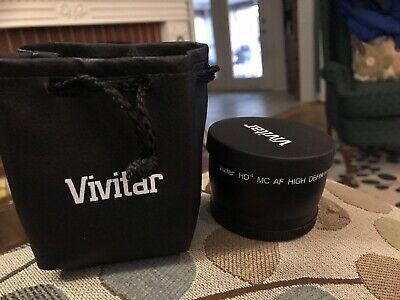 Vivitar HD4 MC AF High Definition 2.2x Telephoto Converter Lens W/Carrying Bag
