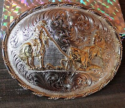 Montana Silversmiths Solid Brass End of the Trail Belt Buckle