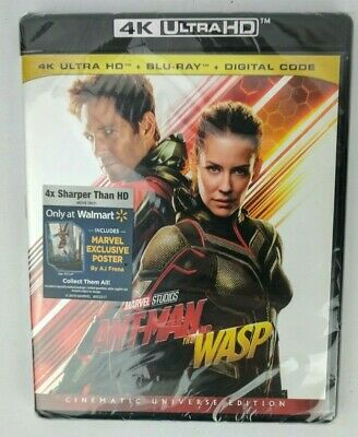 Ant-Man and the Wasp (4K Ultra HD + Blu-ray + Digital Code) Marvel Movie