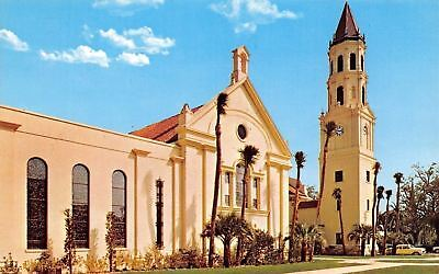 St Augustine Florida~The Roman Catholic Cathedral~1960 Postcard