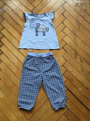 Girls Summer Cotton Trouser and Top set  from Monsoon(18-24 Months)