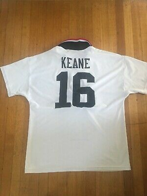 ec63a8216 Manchester United Home 1995 Vintage Umbro Soccer Football Shirt Jersey Keane