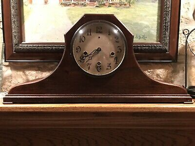 Antique New Heaven Westminster Chime With Silent Mantle Clock -Runs
