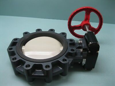 "12"" Asahi/America PVC Butterfly Valve Type 57L Gear-Operated NEW P4 (2410)"