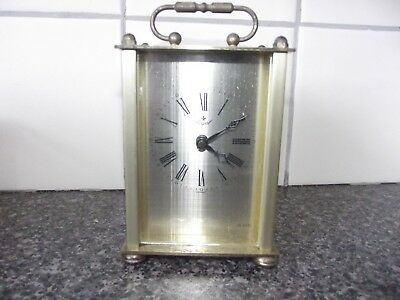 vintage brass mantle clock royal made in germany
