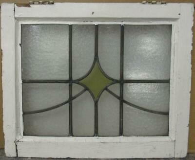 """OLD ENGLISH LEADED STAINED GLASS WINDOW Simple Diamond Sweep 20.25"""" x 16.5"""""""