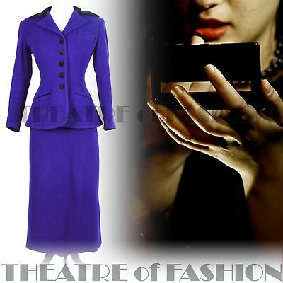 JACKET COAT SUIT SKIRT VINTAGE DROOPY BROWNS 40s VAMP 50s DIVA 30s GLAMOUR SIREN