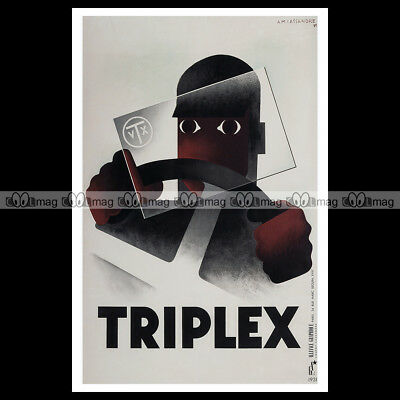 #phpb.001162 Photo TRIPLEX 1931 A4 Poster reprint