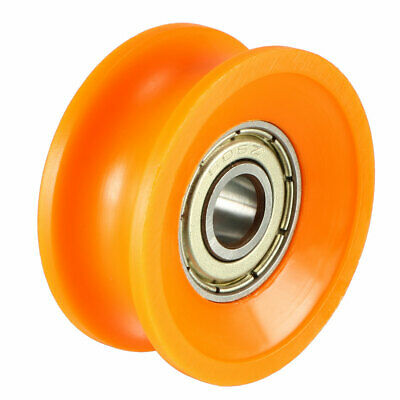 Deep Metal V Groove Guide Bearing Pulley Rail Ball Wheels