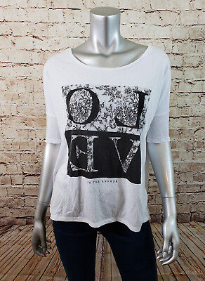 American Eagle Love is the Answer Over Size Top Womens Size Small Floral Print