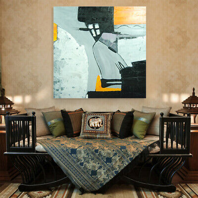 100% Hand-Painted Abstract Home Decor Stretched Canvas Art Oil Painting Framed