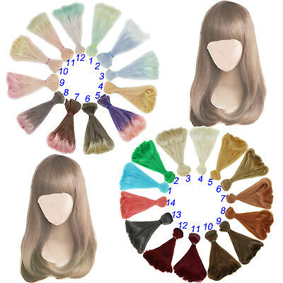 15cm x 100cmnatural color curly doll wigs hair DIY for 1//3 1//4 1//6  FD