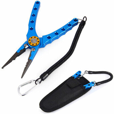 Aluminum Fishing Pliers 4.9In Saltwater Braid Line Cutter RemoverN Hook E0E3