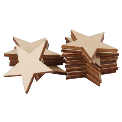 Pack of 25pcs Star Shape Wooden Embellishments for DIY Crafts