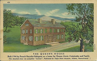 Old Vintage The Queens House In Athens Pennsylvania Postcard