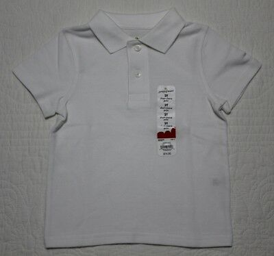 New Jumping Beans Baby Boys Polo Collar Style Shirt New White Size 2T 3T 4T