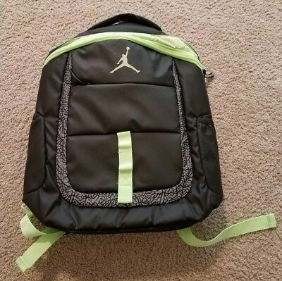cef4725ea198 Air Jordan Jumpman 23 Backpack Lap Top Bag Black Ghost Green New With Tags.