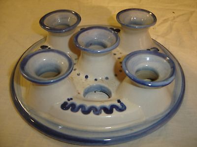 M A Hadley Bluette 5 Hole Candle Holder Candelabra Top 8552