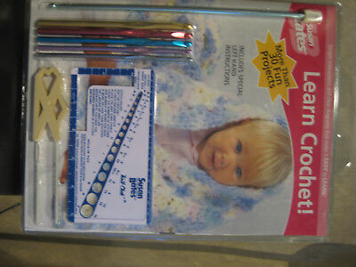 Susan Bates Learn Crochet Kit With Left Hand Instructions