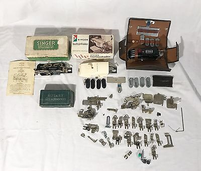 Sewing Vintage Lot Singer Buttonholer Rotary Attachments + More