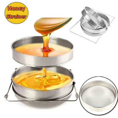 Honey Strainer Double Sieve Stainless Steel Filter with stretch handle Beekeepin