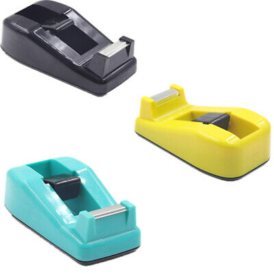 3 Colors Office Desk Mini Tool Stationery Tape Dispenser Packing Tape Cutter