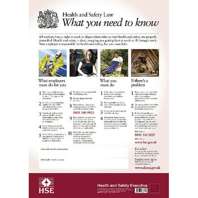 Poster Health And Safety Law Hse A3
