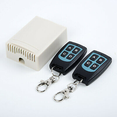 12V 4CH Channel 433Mhz Wireless Remote Control Switch With 2 Transmitter USEFUL