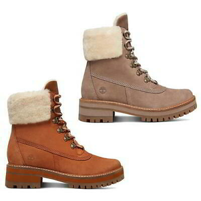 7926b94804 Timberland Courmayeur Valley Shearling Womens Waterproof Ankle Boots Size  4-8