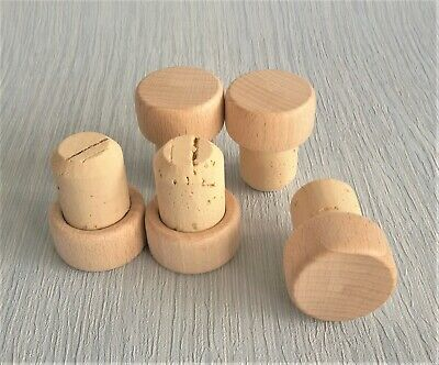 Flat Top Wooden Cork Bottle T-Stoppers Cap Seal Plug Brew High Quality