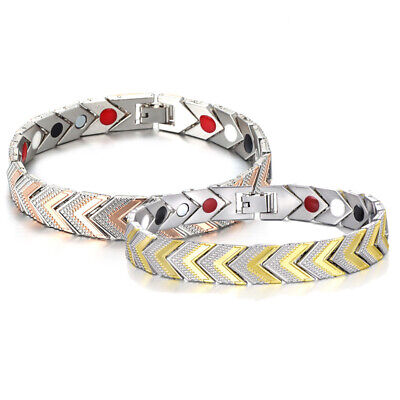 Unisex Copper Magnetic Bracelet Arthritis Healing Therapy Energy Cuff Wristband