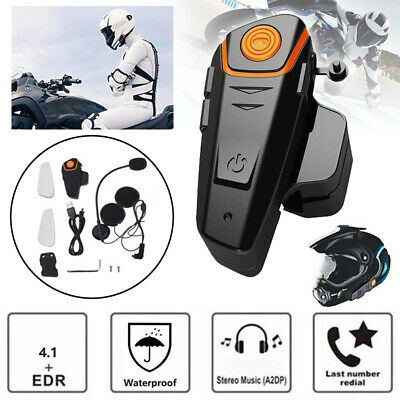 Waterproof 1000m BT-S2 Motorcycle Helmet Bluetooth Headset Motorbike Outdoor