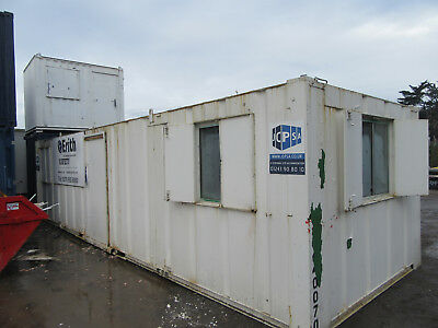 32ft x 10ft SITE CABIN SITE PORTABLE BUILDING PARTITIONED UNIT £3000 + VAT