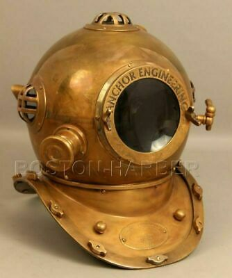 "18"" Anchor Engineering Diving Helmet Mark V Deep Sea Divers Reproduction Helmet"