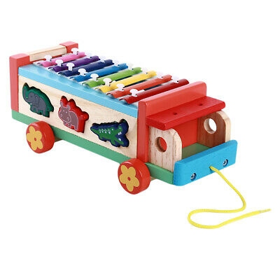 Wooden Toys Musical Instruments Infants Puzzle Baby Preshcool Learning Games 6A
