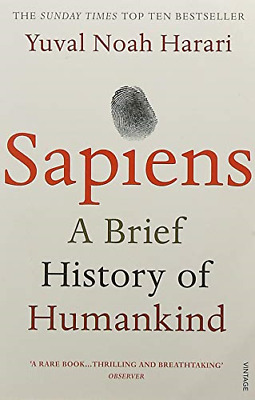 Sapiens: A Brief History of Humankind by Yuval Noah Harari New Paperback Book