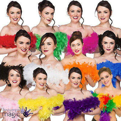 Stylish Feather Boa Flapper Hen Night Burlesque Dance Party Dancing Show Costume