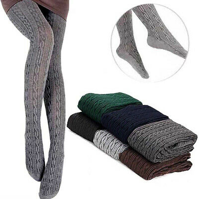 Women Tights Knit Winter Pantyhose Tights Warm Stockings Thick Footed Sale Top