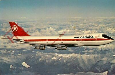 Picture Postcard~ Air Canada Boeing 747 [Airline Issue]