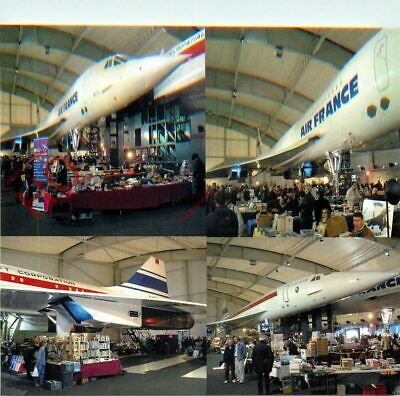 Picture Postcard- AIR FRANCE CONCORDE @ LE BOURGET AIRPORT ENTHUSIASTS FAIR