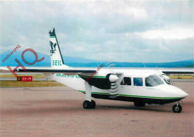 PICTURE POSTCARD-:HIGHLAND AIRWAYS BRITTEN-NORMAN ISLANDER @ OBAN AIRPORT