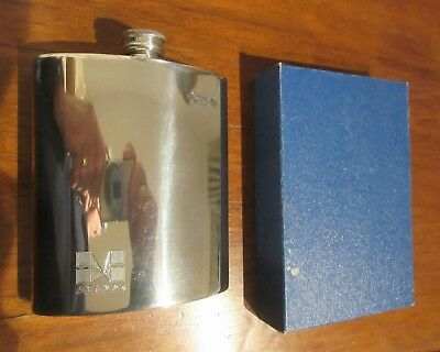 Hip Flask - Polished Pewter - Sheffield Hallmarked
