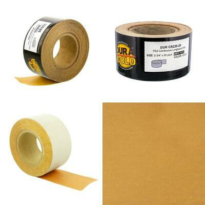 Dura-Gold Premium - 220 Grit Gold - Longboard Continuous Roll 20 Yards Long By 2