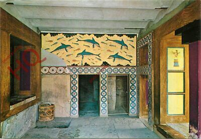 Picture Postcard~ Crete, Knossos, The Apartment Of The Queen, Dolphins Fresco